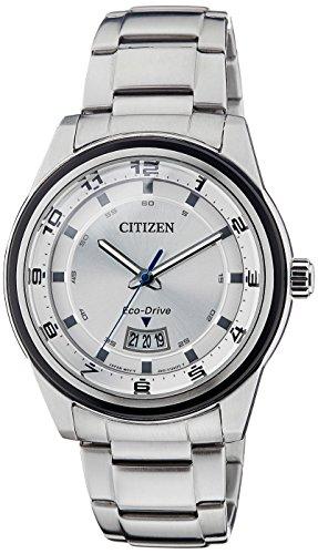 Citizen Eco Drive Analog White Dial Mens Watch AW1274 63A 0 - Citizen AW1274-63A Eco-Drive watch