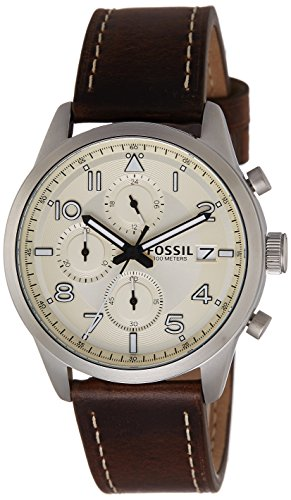 Fossil Chronograph Off White Dial Mens Watch FS5138 0 - Fossil FS5138 Mens watch