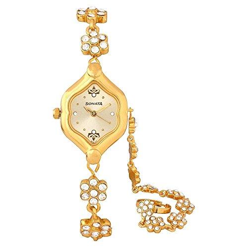 Sonata Analog Gold Dial Womens Watch 8128YM02 0 - Sonata 8128YM02 watch