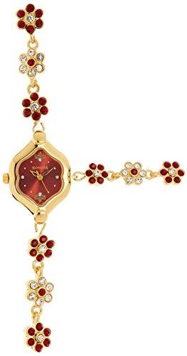 Sonata Analog Red Dial Womens Watch 8128YM03 0 - Sonata 8128YM03 watch