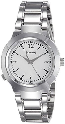 Sonata Analog White Dial Womens Watch 90057SM01 0 - Sonata 90057SM01 watch
