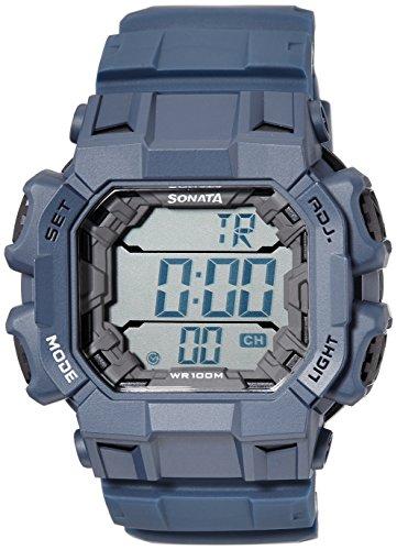 Sonata Ocean Series III Digital Grey Dial Unisex Watch 77025PP03J 0 - Sonata 77025PP03J watch