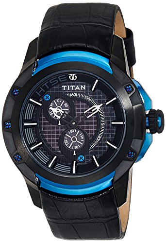 Titan Htse Analog Black Dial Mens Watch 1540KL04 0 - Titan 1540KL04 Htse watch