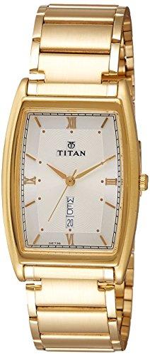 Titan White Dial Analouge Watch For Men 1640YM04 0 - Titan 1640YM04 golden watch