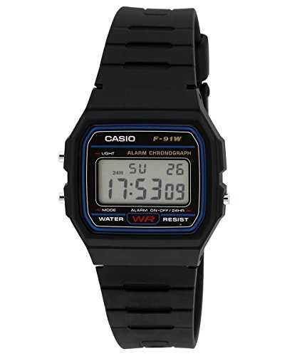 Casio Vintage Series Digital Black Dial Mens Watch F 91W 1DG D002 0 - Casio F-91W-1DG D002 Mens watch