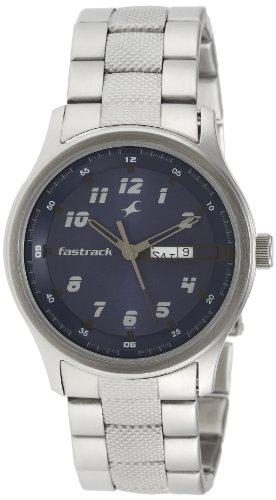 Fastrack Essentials Analog Blue Dial Mens Watch NE3001SM02 0 - Fastrack NE3001SM02 Mens watch