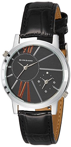 Giordano Analog Black Dial Womens Watch 60057 P11641 0 - Giordano 60057 P11641 WoMens watch