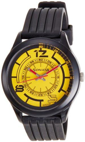Sonata Analog Black Dial Mens Watch 77007PP03J 0 - Sonata 77007PP03J Mens  watch