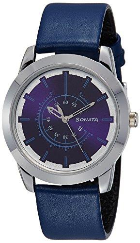 Sonata Analog Blue Dial Mens Watch 7924SL08 0 - Sonata 7924SL08 Blue Dial Men watch