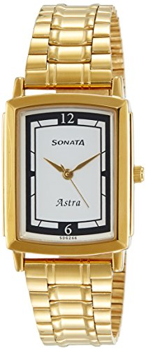 Sonata Analog White Dial Mens Watch 77059YM01J 0 - Sonata 77059YM01J Mens watch