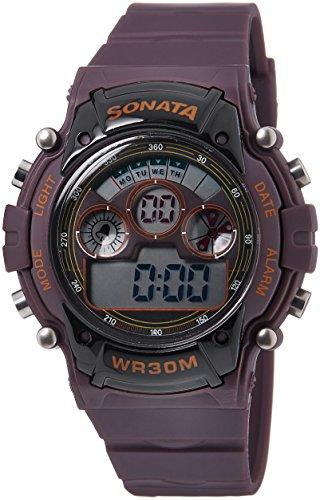 Sonata Digital Brown Dial Mens Watch 77006PP03J 0 - Sonata 77006PP03J Mens  watch
