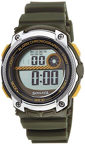 Sonata Digital Grey Dial Mens Watch 77005PP02 0 - Sonata 77005PP02 Mens watch