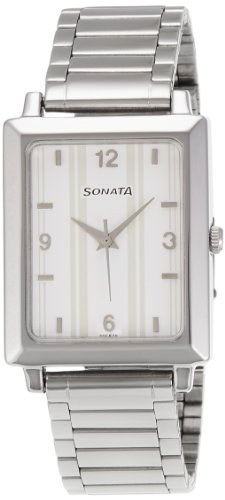 Sonata Wedding Analog White Dial Mens Watch 7078SM13 0 - Sonata 7078SM13 Mens   watch