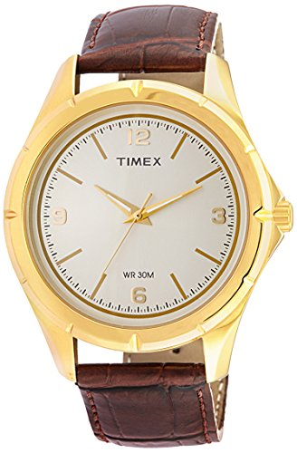 Timex Classics Analog Light Champagne Dial Mens Watch TI000V90100 0 - Timex TI000V90100 Mens watch