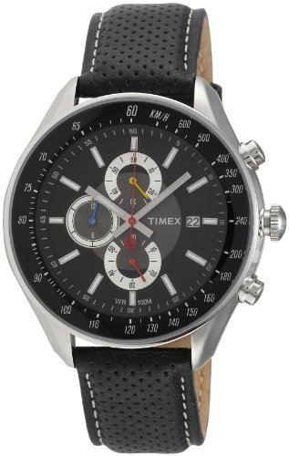 Timex E Class Chronograph Black Dial Mens Watch T2N156 0 - Timex T2N156 Mens   watch