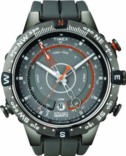Timex Intelligent Quartz Chronograph Grey Dial Mens Watch T49860 0 - Timex T49860 Mens watch