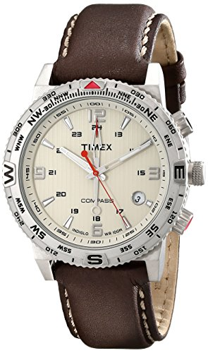 Timex Mens T2P287 Intelligent Quartz Adventure Series Stainless Steel Watch with Leather Band 0 - Timex T2P287 Mens watch