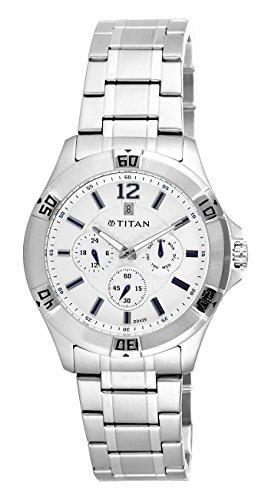 Titan Analog White Dial Mens Watch 1622SM02J 0 - Titan 1622SM02J Mens watch
