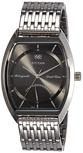 Titan Anthracite Dial Mens Analog Watch 1680SM01 0 - Titan 1680SM01 Mens watch