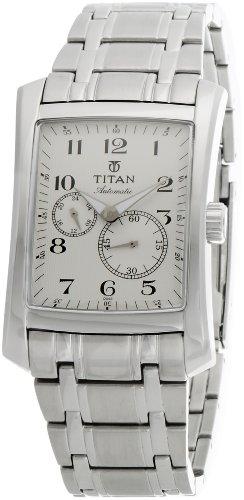 Titan Automatic Analog White Dial Mens Watch 9350SM01J 0 - Titan 9350SM01J Mens  watch