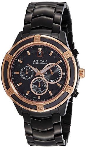Titan Chronograph Black Dial Mens Watch 1657KM03 0 - Titan 1657KM03 Mens  watch