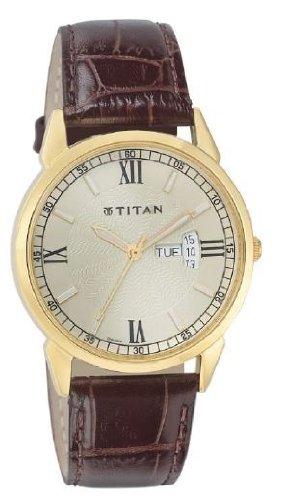 Titan Classique Analog Champagne Dial Mens Watch 1521YL08 0 - Titan 1521YL08 Classique Mens watch
