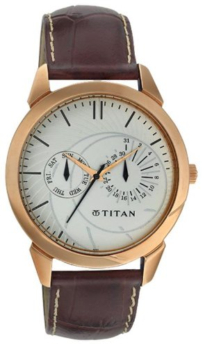 Titan Classique Analog White Dial Mens Watch NE1509WL01 0 - Titan NE1509WL01 Mens   watch