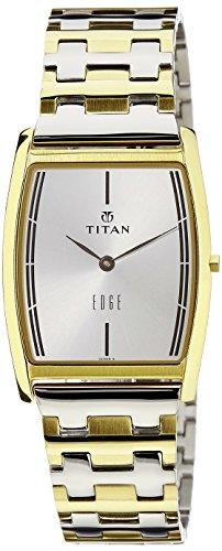 Titan Edge Analog White Dial Mens Watch 1044BM02 0 - Titan 1044BM02 Mens  watch