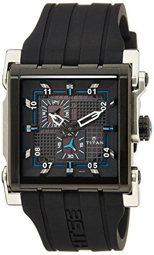 Titan HTSE 3 Analog Black Dial mens Watch 1635KP01 0 - Titan 1635KP01 Mens  watch