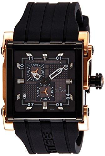 Titan HTSE 3 Analog Black Dial mens Watch 1635KP03 0 - Titan 1635KP03 Mens  watch