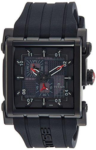 Titan Htse Analog Black Dial Mens Watch 1635NP01 0 - Titan 1635NP01 Mens  watch