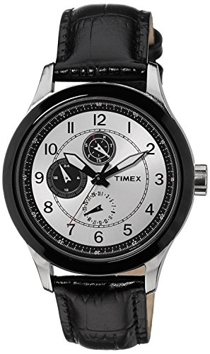 Timex E Class Mens Multifunction Silver Dial Watch TI000I70600 0 - Timex TI000I70600 E-Class Men's Multifunction watch