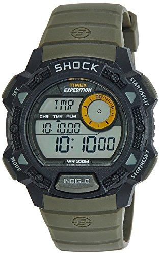 Timex Shock Digital Grey Dial Mens Watch T49975 0 - Timex T49975 Shock Digital Grey Dial Men's watch