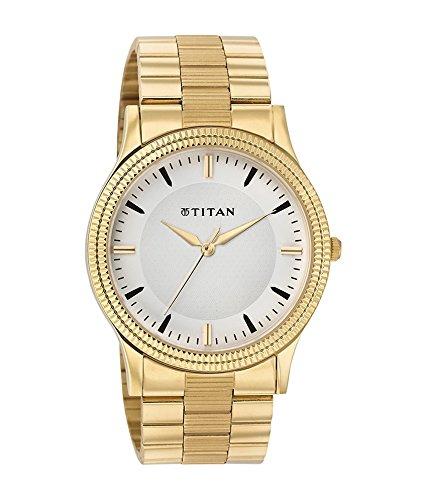 Titan Mens White Dial Watch 1650YM01 0 - Titan 1650YM01 Men's White Dial watch