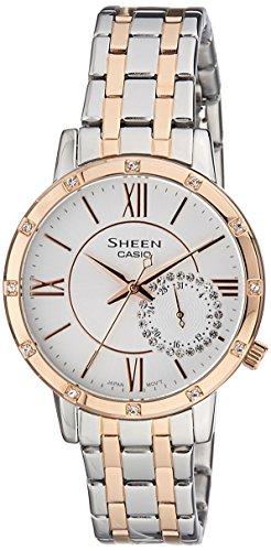 Casio Sheen Analog White Dial Womens Watch SHE 3046SGP 7AUDR SX165 0 - Casio SHE-3046SGP-7AUDR (SX165) Sheen Analog White Dial Women watch