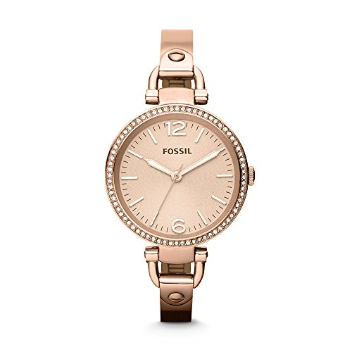 Fossil Georgia Analog Rose Gold Dial Womens Watch ES3226 0 - Fossil ES3226 Georgia Analog Rose Gold Dial Women watch