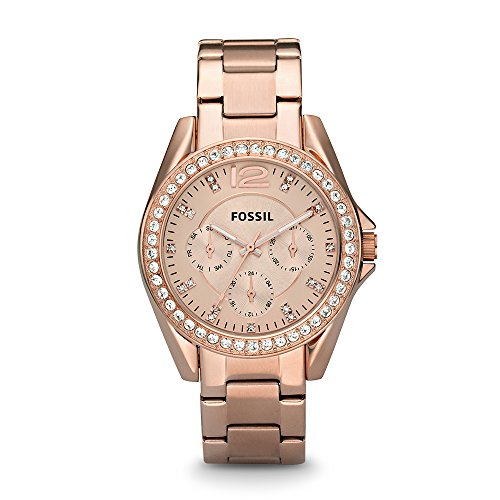Fossil Riley Analog Rose Gold Dial Womens Watch ES2811 0 - Fossil ES2811 Riley Analog Rose Gold Dial Women watch