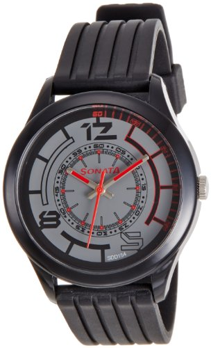Sonata Analog Black Dial Mens Watch 77007PP02J 0 - Sonata 77007PP02J Analog Black Dial Men's watch