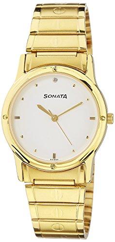 Sonata Analog White Dial Mens Watch NC7023YM01 0 - Sonata NC7023YM01 Analog White Dial Men's watch
