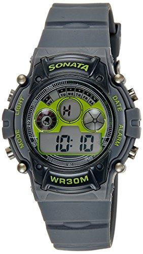 Sonata Digital Grey Dial Mens Watch 77006PP02J 0 - Sonata 77006PP02J Digital Grey Dial Men's watch