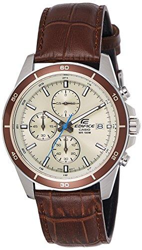 Casio Chronograph Beige Dial Mens Watch EFR 526L 7BVUDF EX303 0 - Casio EFR-526L-7BVUDF (EX303) Chronograph Beige Dial Men's watch