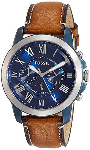 Fossil Grant Chronograph Blue Dial Mens Watch FS5151 0 - Fossil FS5151 Grant Chronograph Blue Dial Men's watch