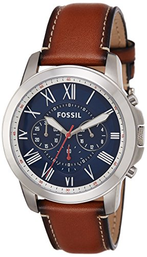 Fossil Grant Chronograph Blue Dial Mens Watch FS5210I 0 - Fossil FS5210I Grant Chronograph Blue Dial Men's watch