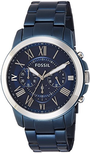 Fossil Grant Chronograph Blue Dial Mens Watch FS5230 0 - Fossil FS5230 Grant Chronograph Blue Dial Men's watch