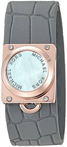 "Michael Kors Access Activity Tracker Reade Croco Embossed Silicone Grey Bracelet 0 - Michael Kors ""Access Activity Tracker"" watch"