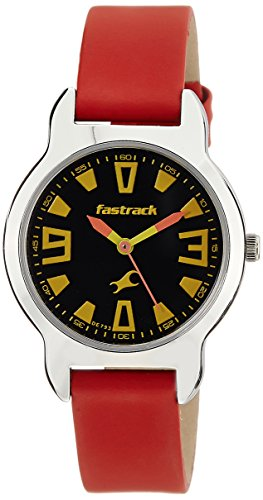 FASTRACK GIRLS LEATHER ANALOG RED WATCH 6127SL01 0 - FASTRACK 6127SL01 GIRLS LEATHER ANALOG RED watch