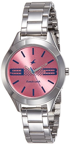 Fastrack Analog Pink Dial Womens Watch 6153SM02 0 - Fastrack 6153SM02 Analog Pink Dial Women watch