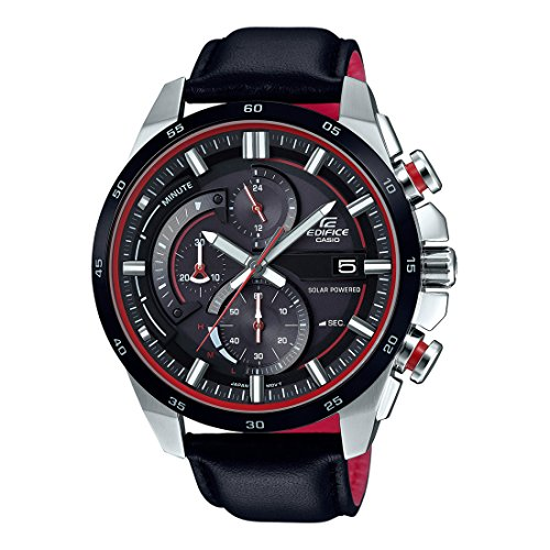 Casio Edifice Analog Black Dial Mens Watch EX380 EQS 600BL 1AUDF 0 - Casio Edifice EX380 EQS-600BL-1AUDF Analog Black Dial Men's watch