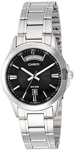 Casio Enticer Analog Silver Dial Mens Watch MTP 1381D 1AVDF A840 0 0 - Casio MTP-1381D-1AVDF (A840) Enticer watch