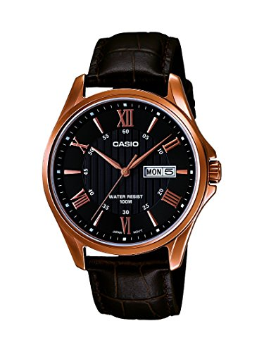 Casio Enticer day and date display Analog Black Dial Mens Watch MTP 1384L 1AVDF A881 0 0 - Casio MTP-1384L-1AVDF (A881) Enticer watch